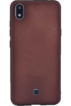 Herdem LG K20 2019 Kılıf Ultra Lüx Soft Mat Silikon Bordo