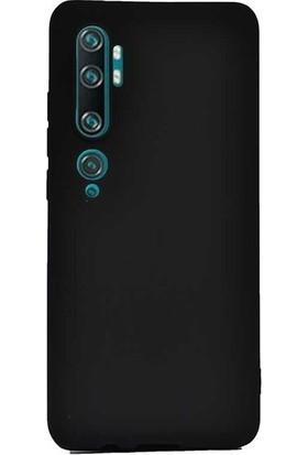 Herdem Xiaomi Mi Note 10 Kılıf Ultra Lüx Soft Mat Silikon Siyah