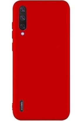 Herdem Xiaomi Mi 9 Lite Kılıf Ultra Lüx Soft Mat Silikon Kırmızı