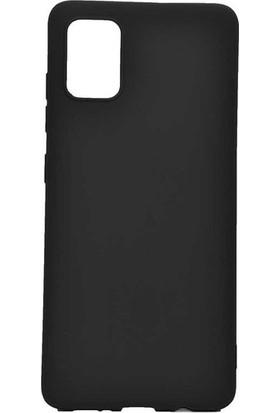 Herdem Samsung Galaxy A81 (Note 10 Lite) Kılıf Ultra Lüx Soft Mat Silikon Siyah