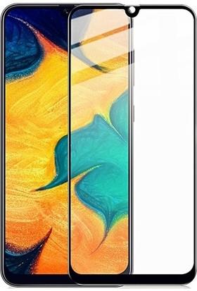 Herdem Samsung Galaxy M30S Ekran Koruyucu 5D Tam Kaplayan Cam - Siyah