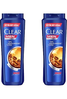 Clear Men Saç Dökülmesine Karşı Şampuan 600 ml 2 Adet