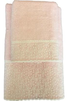 Bulteks Bambu Soft Dantelli Havlu Seti