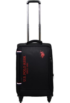 U.s. Polo Assn. Valiz Kabin Boy Siyah Kumaş Valiz