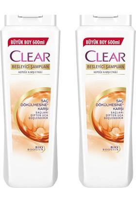 Clear Saç Dökülmesine Karşı Etkili Şampuan 600 ml x 2 Adet