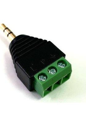 Electroon 3.5mm Klemensli Stereo Jak Fiş - 1ADET