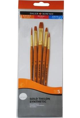 Daler Rowney Simply Gold Taklon Synthetic 5li Fırça Seti KOD:501