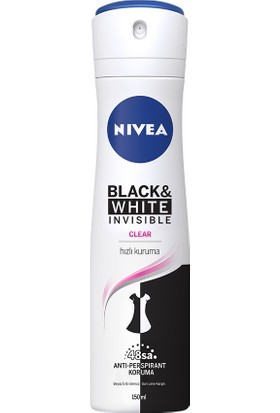 Nivea Invisible Black&White Clear Sprey Deodorant 150 ml Kadın