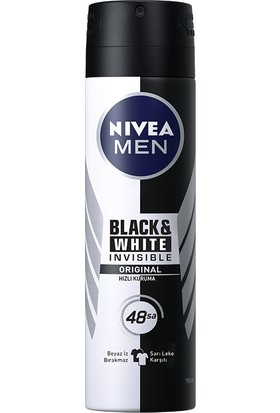 Nivea İnvisible Black&Whıte Power Sprey Deodorant 150Ml Erkek