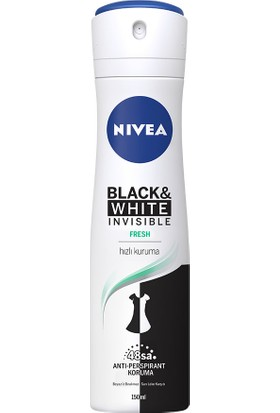 Nivea İnvisible Black&Whıte Fresh Sprey Deodorant 150Ml Kadın
