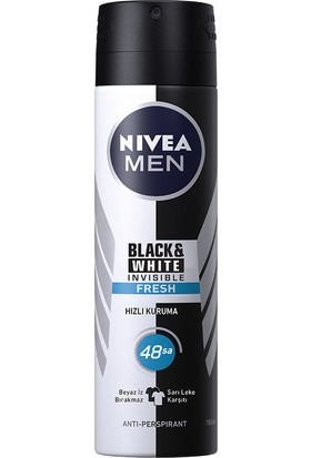 Nivea İnvisible Black&Whıte Fresh Sprey Deodorant 150Ml Erkek