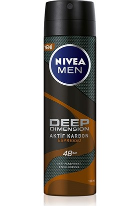 Nivea Men Deep Dimension Espresso Sprey Deodorant 150 ml Erkek