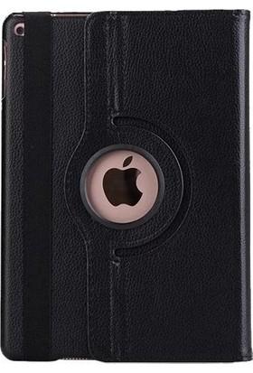 Omelo iPad Mini & Omelo iPad Mini 2 & Omelo iPad Mini 3 Kılıf Deri Uyku Modlu 360° Dönerli Standlı Siyah