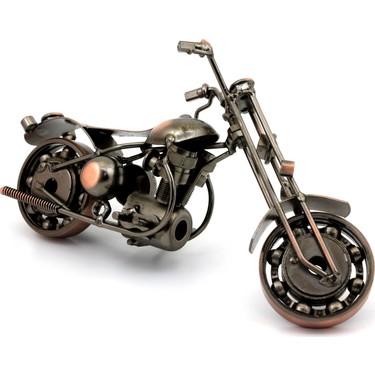 omr dizayn hediye el yapimi metal motosiklet biblo model 8