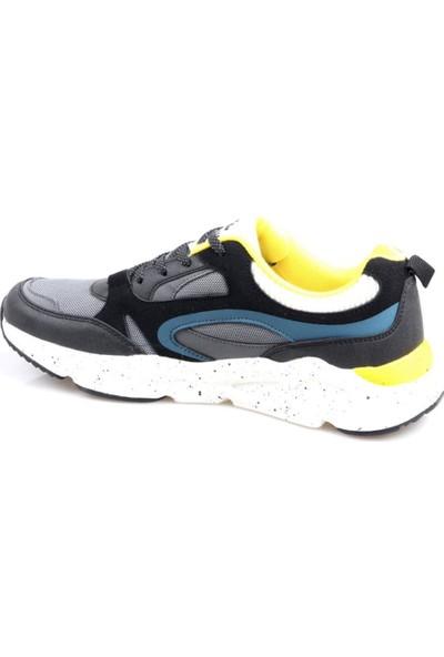 Lumberjack Ezra Siyah Sarı Günlük Erkek Spor Ayakkabı