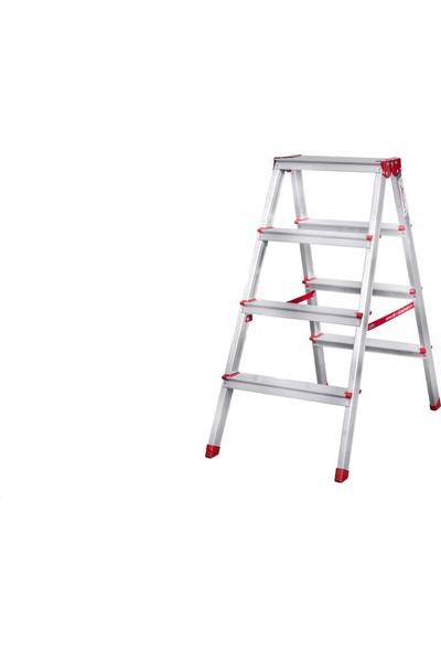 Akrobat Merdiven Çift Çıkışlı 4 Basamak