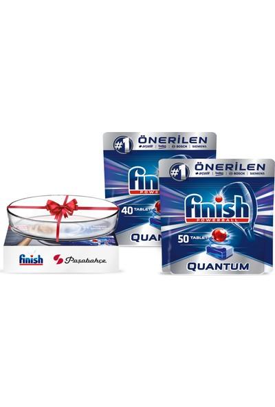 Finish Quantum 90 Tablet Bulaşık Makinesi Deterjanı (Paşabahçe Borcam Hediyeli)