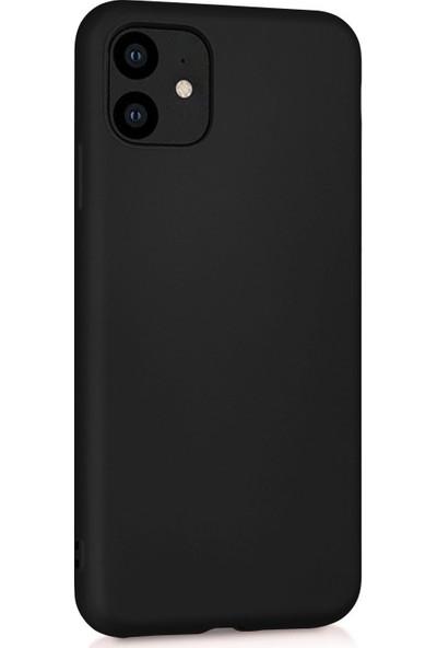 Case 4U Apple iPhone 11 Kılıf Mat Silikon Arka Kapak Premier Siyah