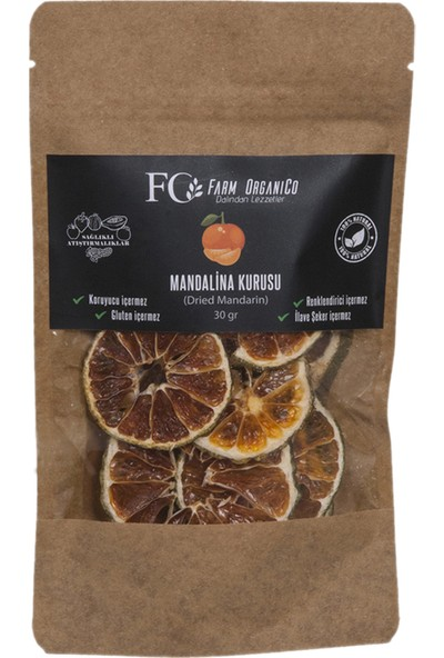 Farm Organico Mandalina Kurusu - Kurutulmuş Mandalina - 30 gr