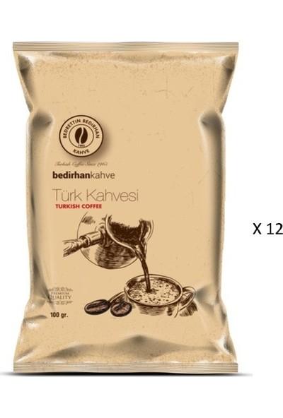 Bedirhan Türk Kahvesi 12 x 100 gr