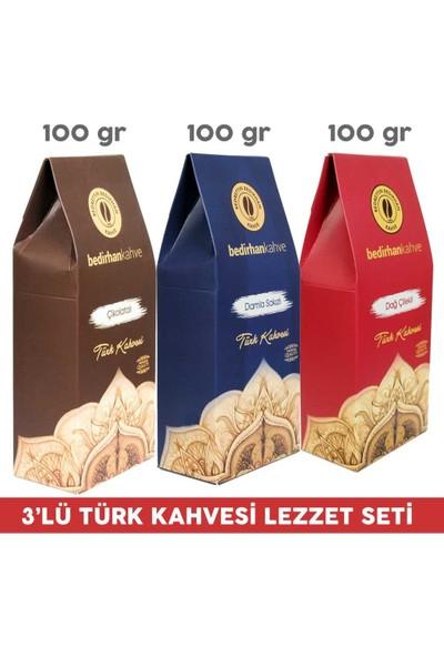 Bedirhan Kahve 3'lü Türk Kahvesi Lezzet Seti