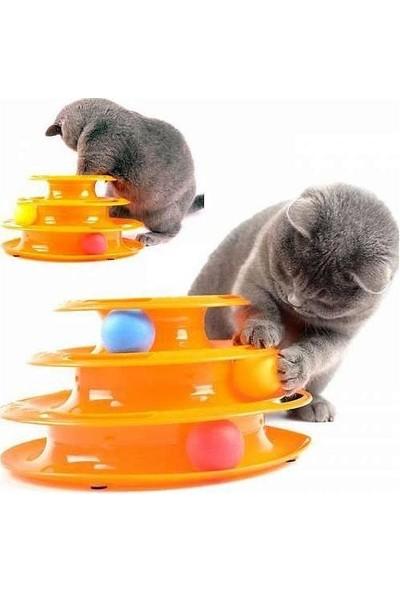 Petzoom Tower Of Tracks 3 Katlı Kedi Oyuncağı