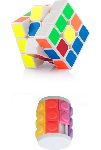 Sly Zeka Küpü 3'lü Cycle Cube ve Rubik Küp 2 in 1 Puzzle Küp