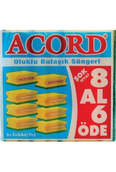 Acord 8'lii Bulaşık Süngeri