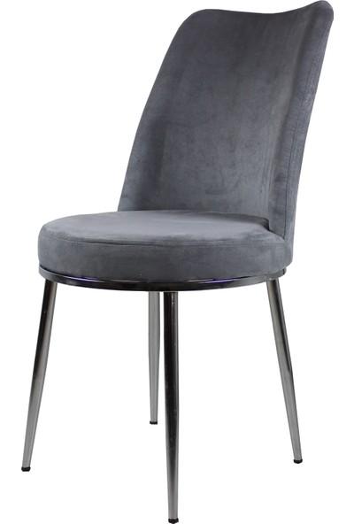 Laçes House Metal Ayaklı Sandalye Tay Tüyü Kumaş Geniş ve Rahat Oturum