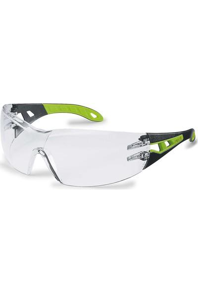 Uvex Phoes Hc/Af Clear Black Green Yarı Kapalı Çalışma Gözlüğü