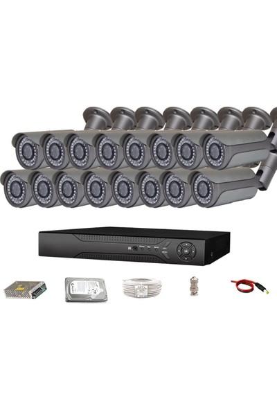 QROMAX PRO 5042 16' lı 5 Megapiksel SONY LENS 1080P Metal Kasa Güvenlik Kamerası Sistemi