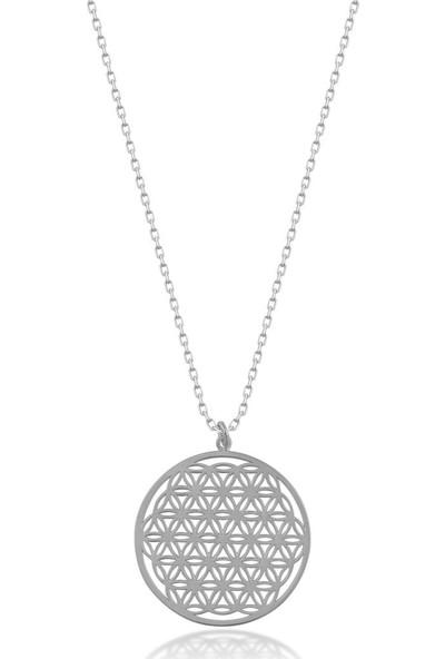 İpek Silver Gümüş Yaşam Çiçeği Kolye