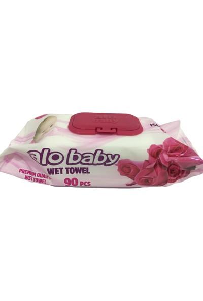 Alo Baby Petek Dokulu Islak Mendil 12 Paket 90'lı