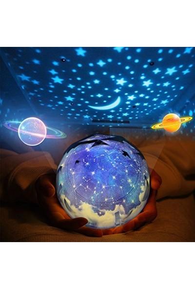 Netavantaj Satürn ve Gezegenler Projeksiyon Gece Lambası Işık