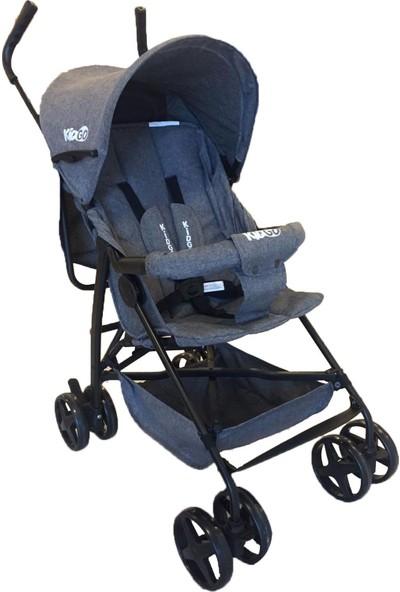 Kidgo Lüx Tam Yatar Baston Bebek Arabası Gri