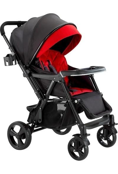 Baby2go Smart Çift Yönlü Bebek Arabası - Kırmızı