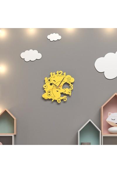 Woodact Aster Çocuk Odası Duvar Saati