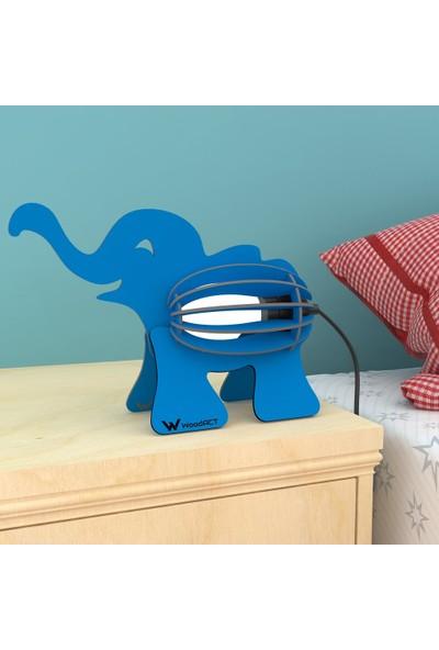 Woodact Elephantus Çocuk Odası Gece Lambası