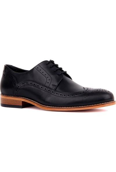 Sail Laker's Siyah Deri Kösele Erkek Günlük Ayakkabı