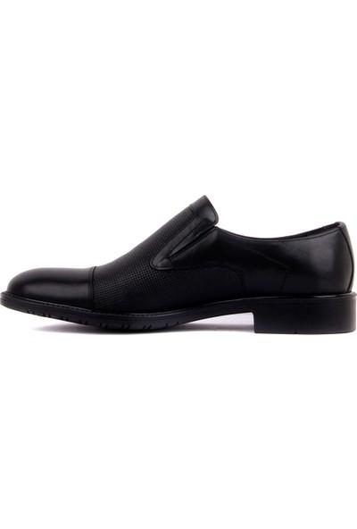 Fosco - Siyah Deri Erkek Klasik Ayakkabı