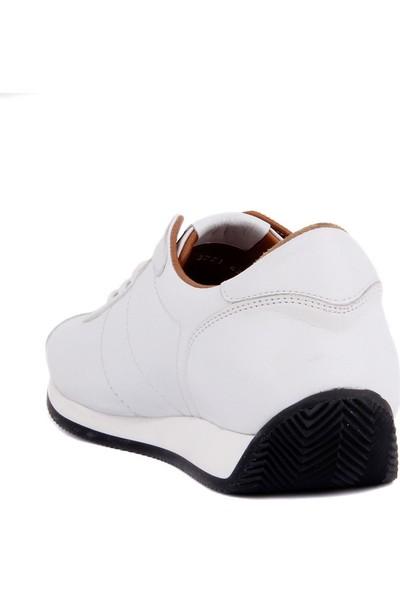 Sail Laker's Beyaz Deri Erkek Günlük Ayakkabı