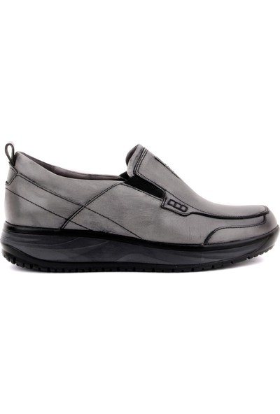 Sail Laker's Gri Deri Eskitme Comfort Erkek Günlük Ayakkabı