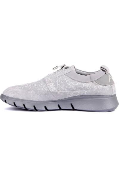 Sail Laker's - Kırık Beyaz Deri Erkek Günlük Ayakkabı