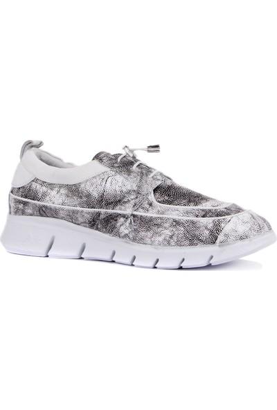 Sail Laker's - Gri Deri Erkek Sneaker