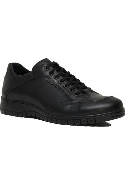 Dropland 2038 Deri Siyah Günlük Erkek Ayakkabısı