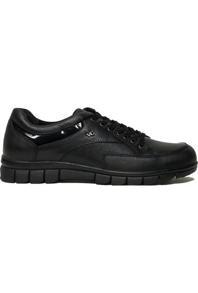 Voyager 3168 Deri Siyah Günlük Erkek Ayakkabı