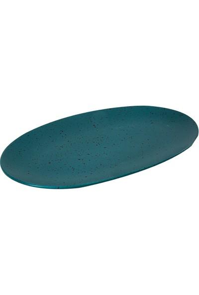 Julıette Elegant 2'li Oval Kayık Petrol Renkli