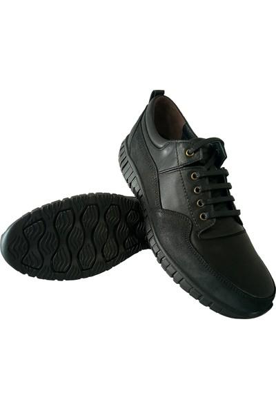 Forex Anatomik 2897 Günlük Siyah Deri Erkek Ayakkabı