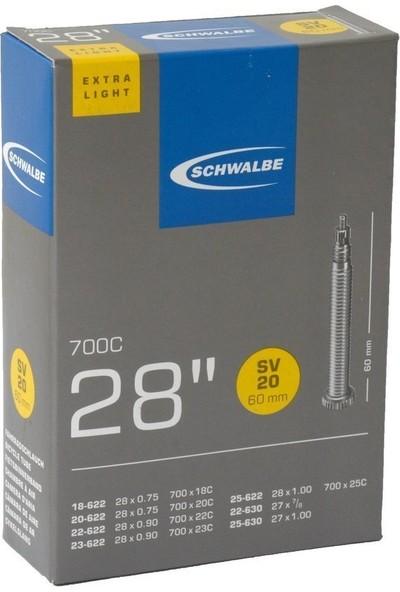 Schwalbe 700x18-25 (SV20) Light İç Lastik İnce Sibop 60mm