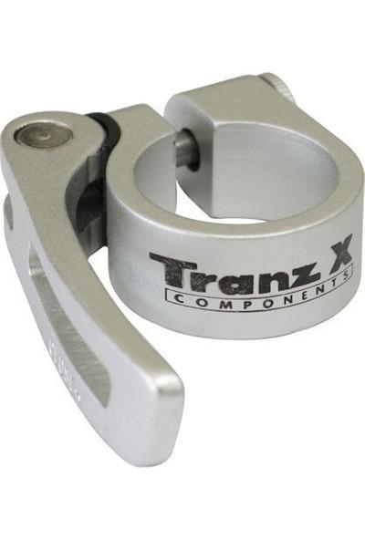 Tranz-X JD-SC10 Mandallı Sele Kelepçesi 31.8mm Gümüş